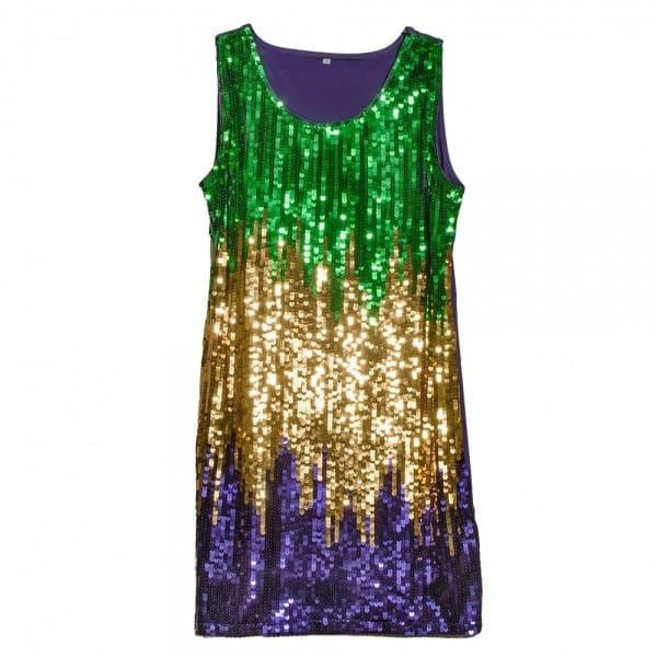Mardi Gras Sequin Party Dress  Medium []