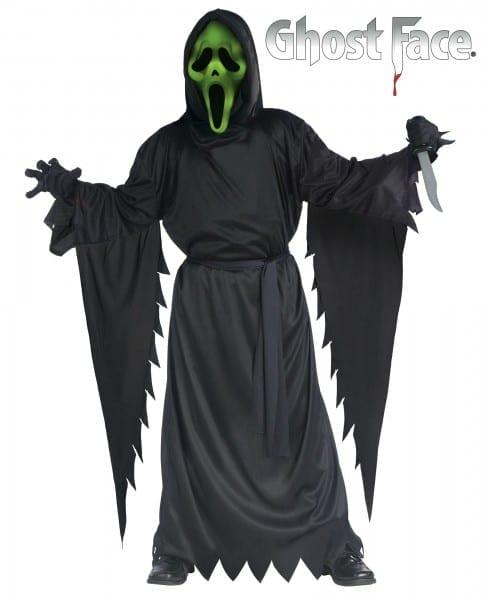 Ck648 Boys Light Up Ghost Face Scream Howling Horror Halloween