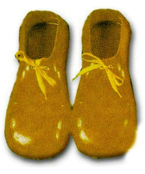 Adult Yellow Plastic Clown Shoes