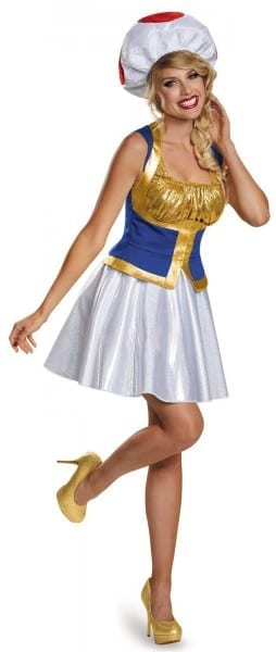 Plus Size Womens Super Mario Brothers Toad Costume