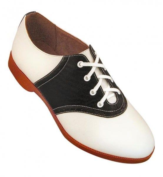 Saddle Shoes  Black & White Saddle Oxford Shoes