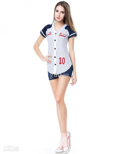 Cosplay Sexy Sports Costumes For Women Baseball Player Costume Set