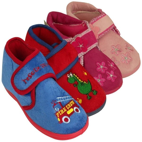 Girls Boys Childrens Toddlers Novelty Ankle Boot Slipper Kids
