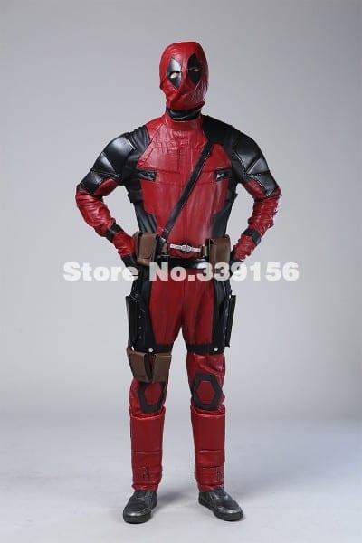 2017 Hot Sale Deadpool Costume Movie Superhero Red Leather