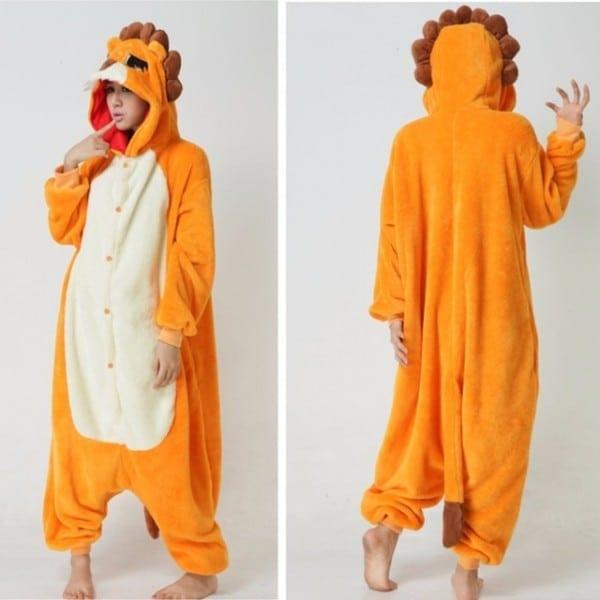 2017 Winter Warm Adult Unisex Kawaii Cartoon Animal Lion Male