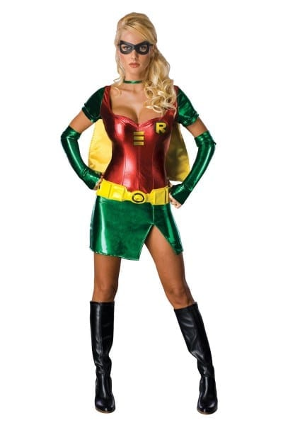 Rubies Womens Robin New Adult Sexy Superhero Batman Fancy Dress