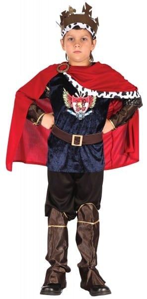 Boys Fantasy King Fairy Tale Prince Book Week Kids Fancy Dress