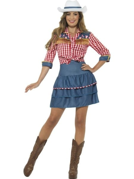 Ladies Dolly Parton Rodeo Doll Fancy Dress Costume