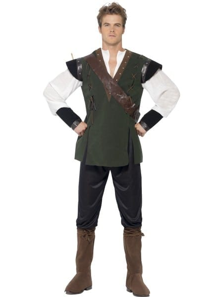 Robin Hood Mens Fancy Dress Fairy Tale Book Day Medieval Thief