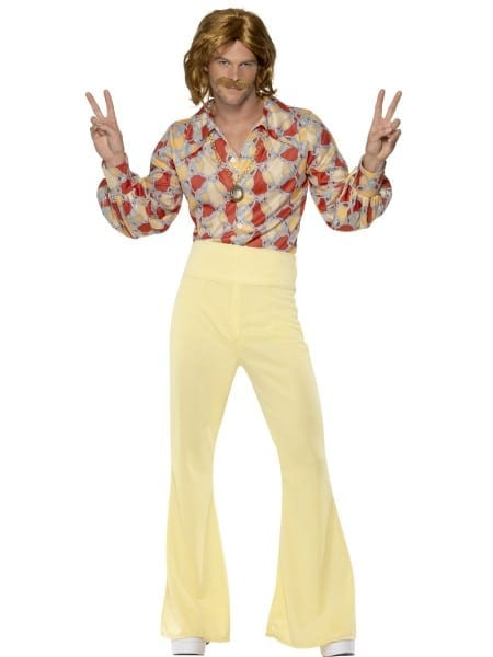 Groovy Guy 60s 70s Costume Disco Mens Abba Hippie Flares Fancy