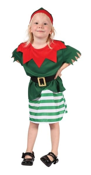 Kids Toddler Elf Costume Girls Santas Little Helper Christmas