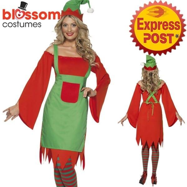 Ca477 Ladies Cute Elf Santa Helper Christmas Xmas Fancy Dress Up