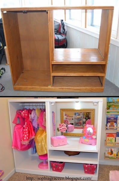 Dress Up Station For Ellie's Playroom  Cute Way To Store Dress Up