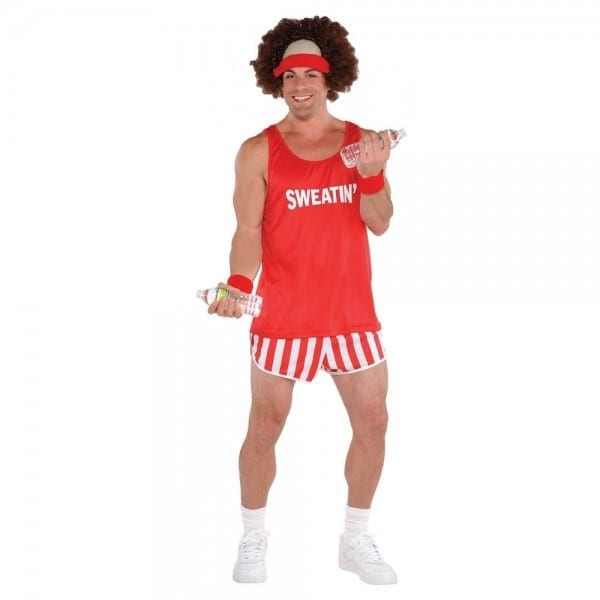 80s Workout Costume Adult Richard Simmons Funny Halloween Fancy