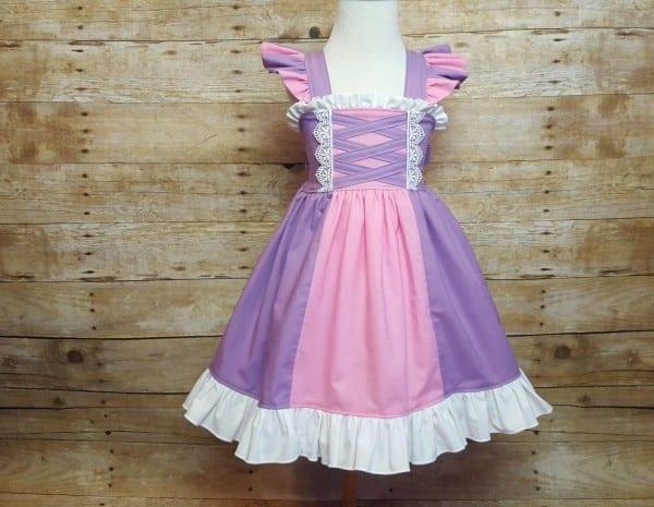 Rapunzel Inspired Girls Toddler Disney Everyday Princess Dress
