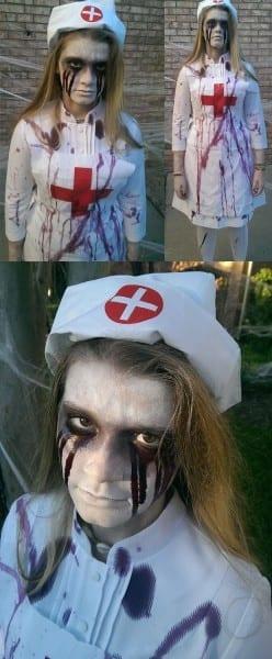 Scary Vintage Asylum Nurse Costume