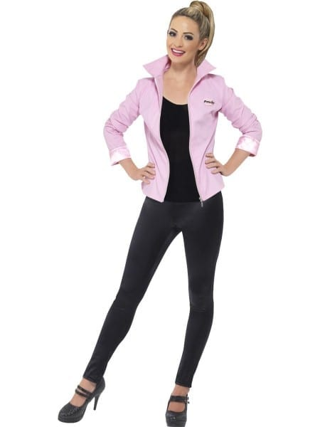 Ladies Deluxe Pink Lady Jacket Costume Grease 50s 60s Frenchy