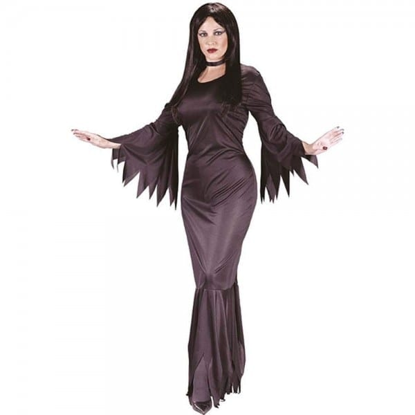 Amazon Com  Fun World Madam Morticia, Black, One Size Costume
