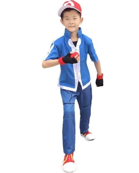 Amazon Com  Miccostumes Boy's Pokemon Xy Ash Ketchum Cosplay