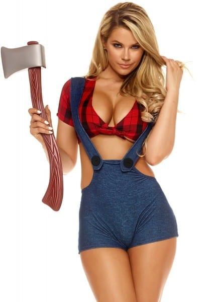 Forplay Womens Red Plaid Lumberjack Costume Upscalestripper Com