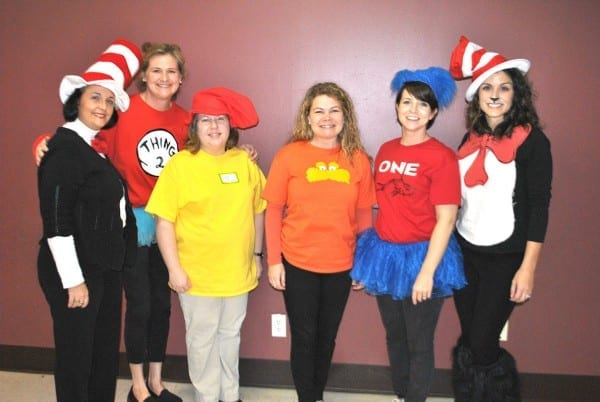 Victory Christian Elementary Teachers Dress Up As Dr  Seuss