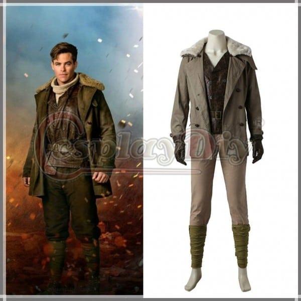 Wonder Woman Steve Trevor Cosplay Costume Custom Made Men's