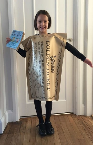 Golden Ticket Costume For World Book Day  Charlie And The