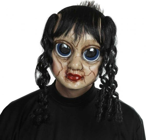 Adult Scary Doll Face Ghost Horror Mask Halloween Fancy Dress
