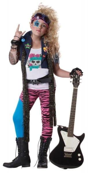 80's Glam Punk Rocker Costume Child