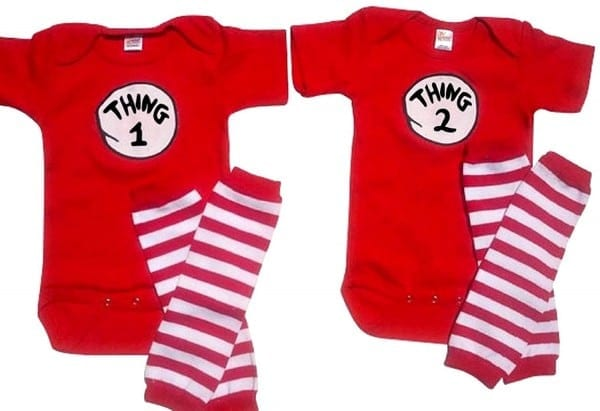 Thing 1 And Thing 2 T Shirts For Toddlers