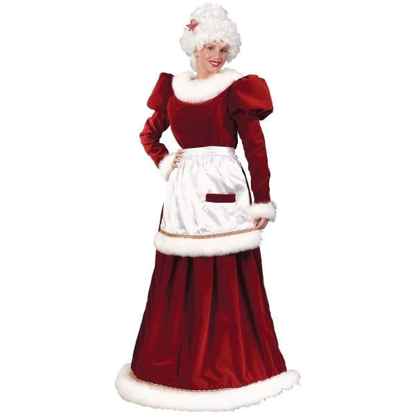 Amazon Com  Fun World Costumes Women's Velvet Mrs  Santa Dress