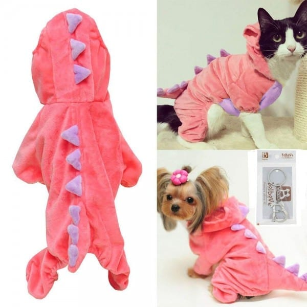 Amazon Com   Pet Plush Outfit Dinosaur Costume With Hood For Small