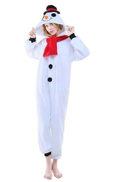 Amazon Com  Newcosplay Adult Unisex Snowman Onesie Pajama Costume