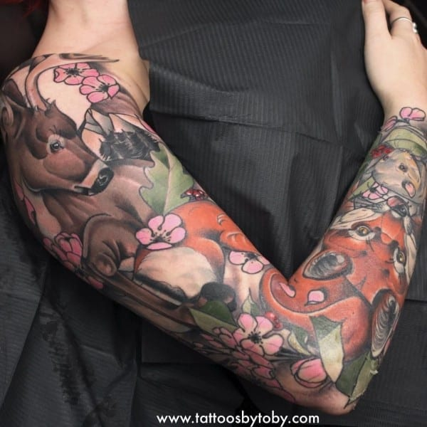 Another Angle Of Amy's Woodland Animal Sleeve  Would Love To Get
