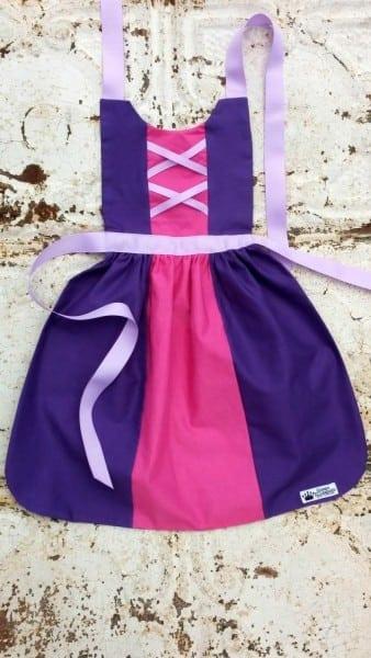 Rapunzel Tangled Disney Princess Inspired Child Costume Apron