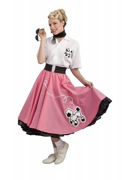 Amazon Com  Rubie's Costume 1950s Poodle Skirt Costume  Clothing