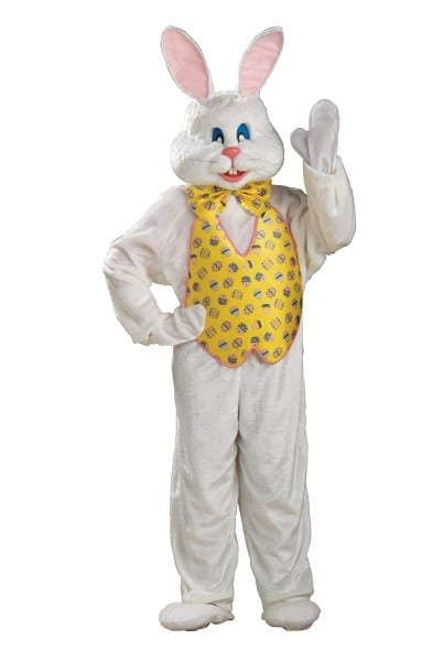 Amazon Com  Adult White Easter Bunny Costume With Mascot Head And