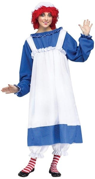 Amazon Com  Fun World Costumes Women's Raggedy Ann Costume, Blue