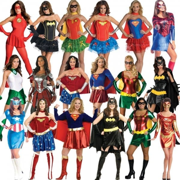 Licensed Adult Ladies Sexy Superhero New Fancy Dress Costume