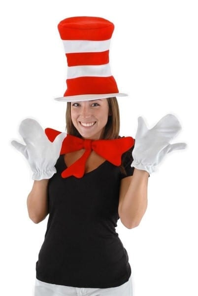 Dr  Seuss Cat In The Hat Costume Accessory Kit Adult  New