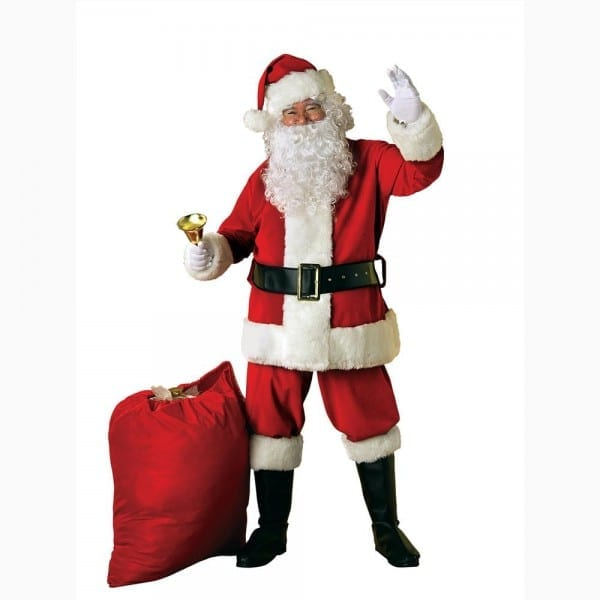 Extra Large Luxury Father Christmas Fancy Dress Costume