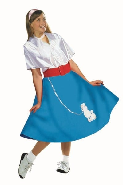 Poodle Skirt W  Blouse 50s Costume