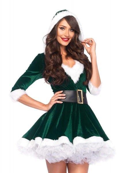 Amazon Com  Leg Avenue Women's 2 Piece Mrs  Claus Costume  Clothing