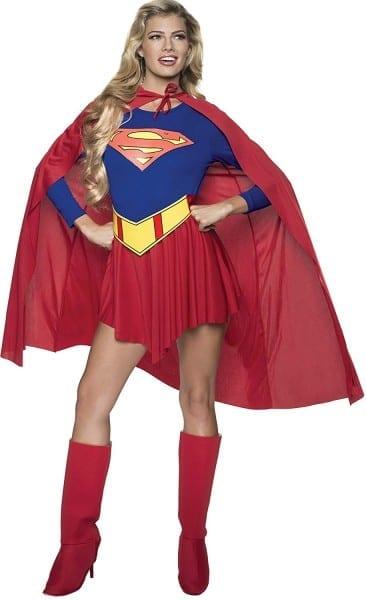 Amazon Com  Dc Comics Deluxe Supergirl Costume, Red Blue, Medium