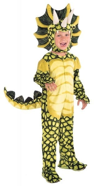 Amazon Com  Forum Novelties Kids Plush Triceratops Deluxe Costume