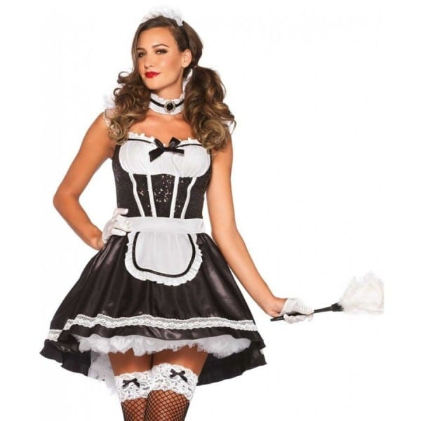 Fiona Featherduster French Maid Womens Costume