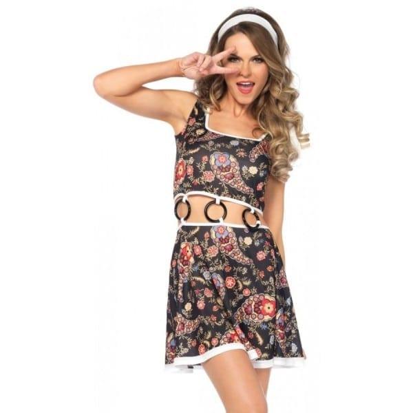 Groovy Gogo Girl 60s Style Womens Costume