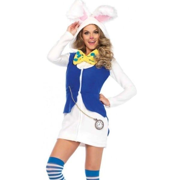 Cozy White Rabbit Womens Wonderland Costume