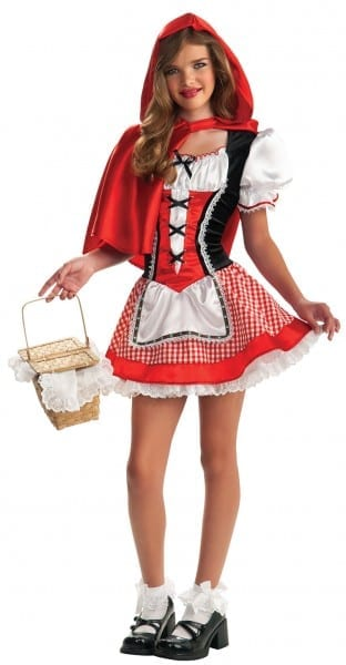 Classic Little Red Riding Hood Costume For Teens
