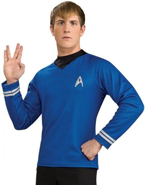 Adult Deluxe Blue Star Trek Shirt